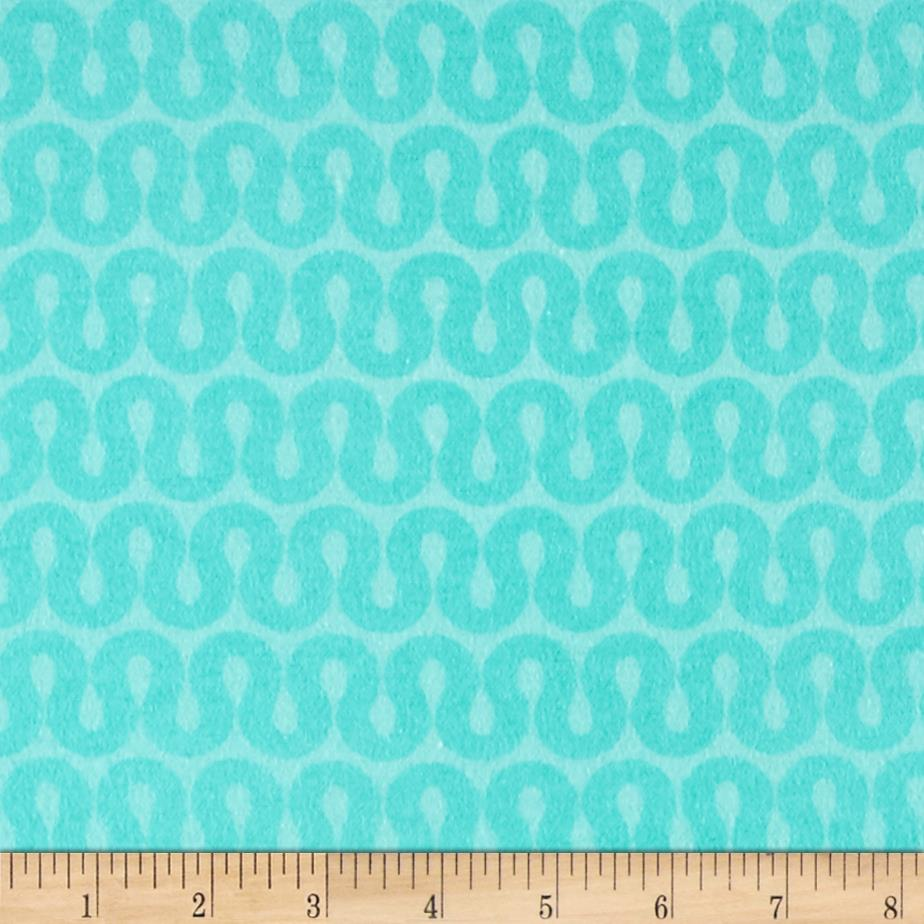 Comfy Flannel Geo Turquoise