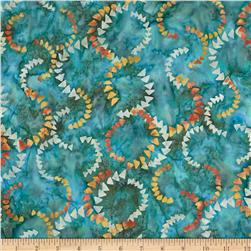 Timeless Treasures Tonga Batik Citrus Mint Currents Emerald
