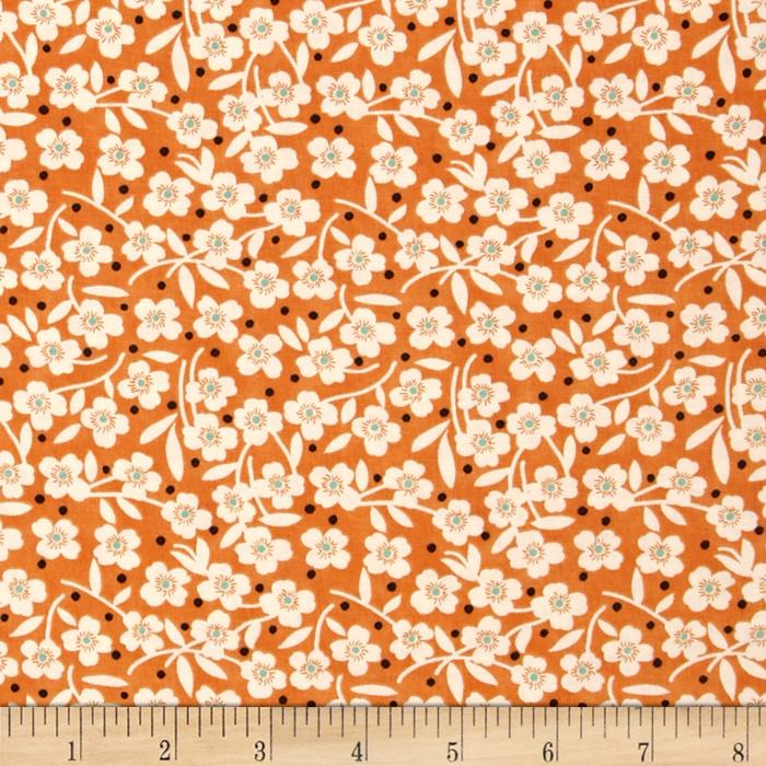 Moda Farmhouse Polka Dot Daisy Pumpkin