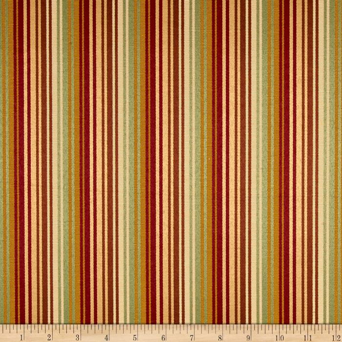 Rayon Stripe Brown/Gold/Cream