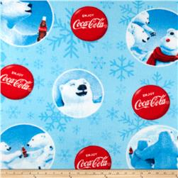 Coca Cola Fleece Coca Cola Bears Allover Blue