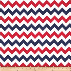Riley Blake Wide Cut Chevron Medium Patriotic