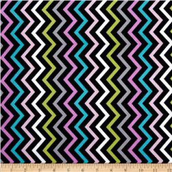 Michael Miller Mini Chic Chevron Pink Fabric