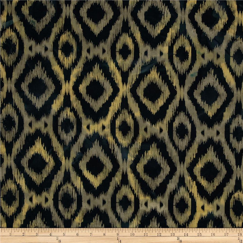 Indian Batik Ikat Navy/Yellow