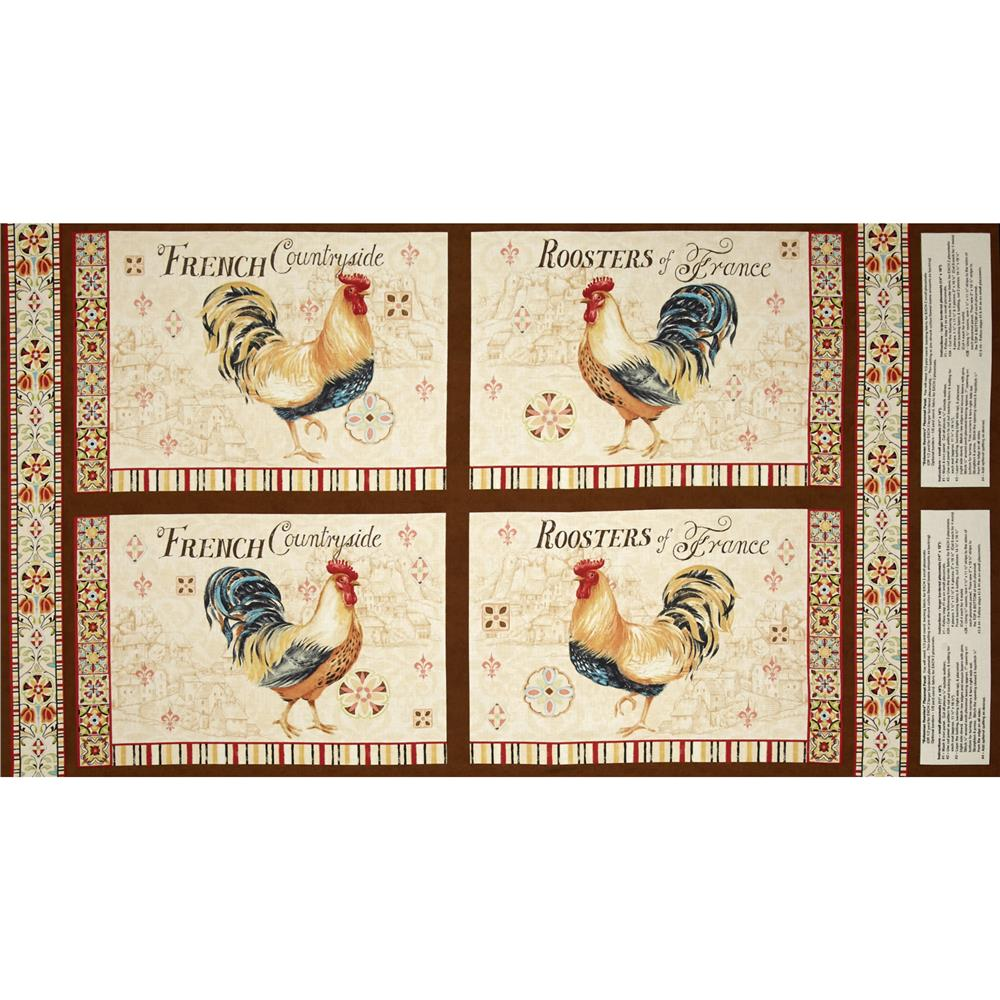 Bohemian Roosters Placemat Panel Multi