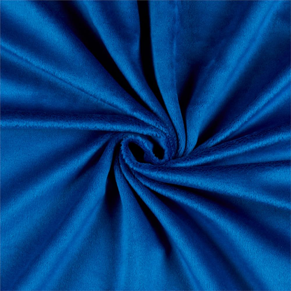 Solid Minky Plush Royal Blue