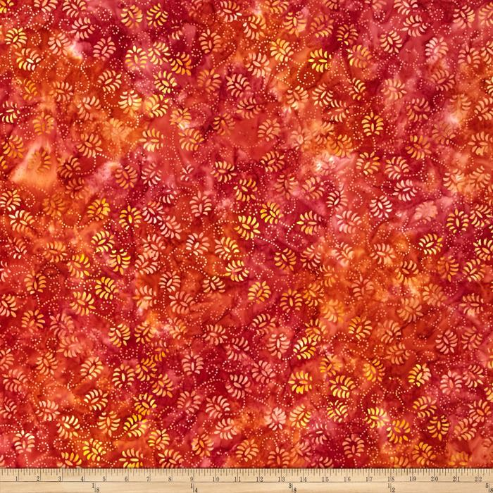 Wilmington Batiks Dancing Leaves Red/Yellow