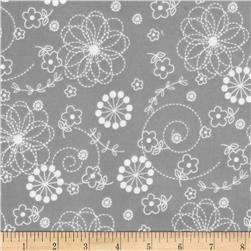 Kimberbell Little One Flannel Too! Flannel Doodles Gray