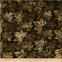 Bali Batiks Maple Leaves Fawn