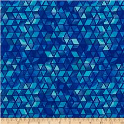 Timeless Treasures Color Crust Diamond Geo Blue