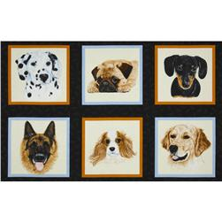 Man's Best Friend Panel Black