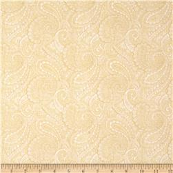 "Paisley 108"" Wide Back Cream"