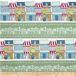 Neighborhoods Neighborhood Stripe Green Fabric