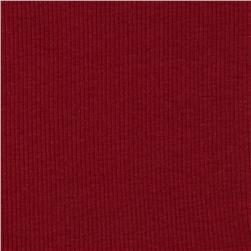 Basic Cotton Rib Knit Brick Red