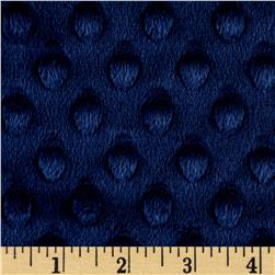 "Minky Cuddle Dimple Dot 90"" Navy"