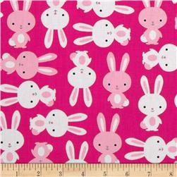 Urban Zoologie Bunnies Pink Fabric
