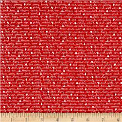 Riley Blake Sweet Orchard Text Red