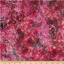 Bali Batiks Handpaints Abstract Floral Geranium