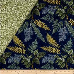Nature Trail Double Sided Quilted Botanical Navy