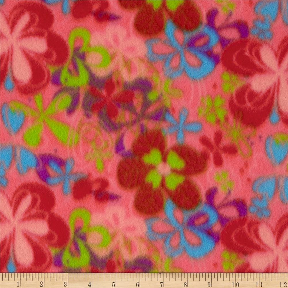 Fleece Flowers Salmon