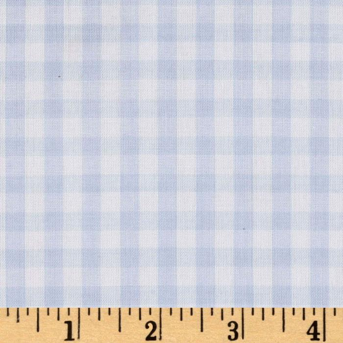 Woven 1/4'' Gingham Blue