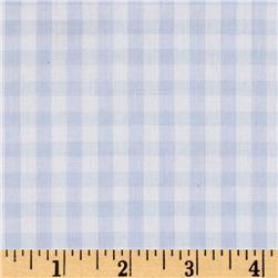 Woven 1/4'' Gingham Blue Fabric
