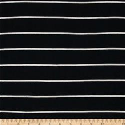 Yarn Dyed Rib Knit Stripe White/Black