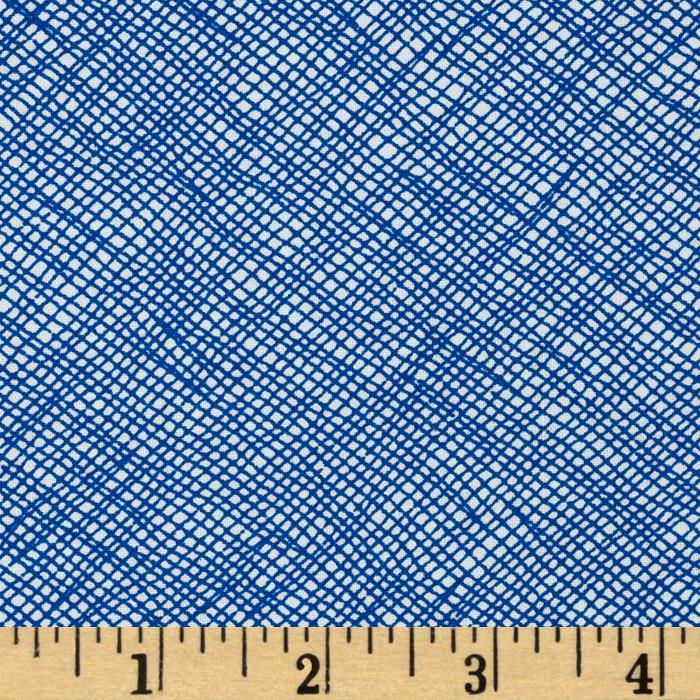 "108"" Wide Quilt Backing Widescreen Grid Pacific"