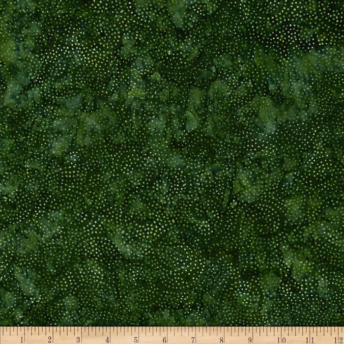 "106"" Wide Quilt Back Tonga Batik Joy Dot Swirl Forest"