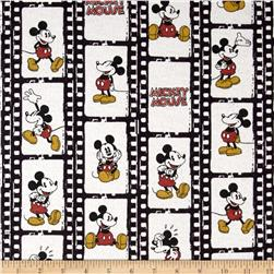 Disney Vintage Mickey Flannel Filmstrip Linear Cream