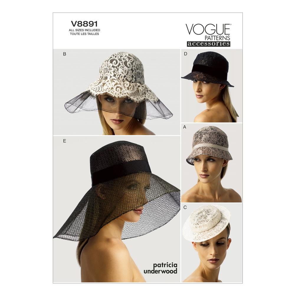 Vogue Hats Pattern V8891 Size OSZ