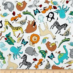 Animal ABC's Tossed Animals Multi