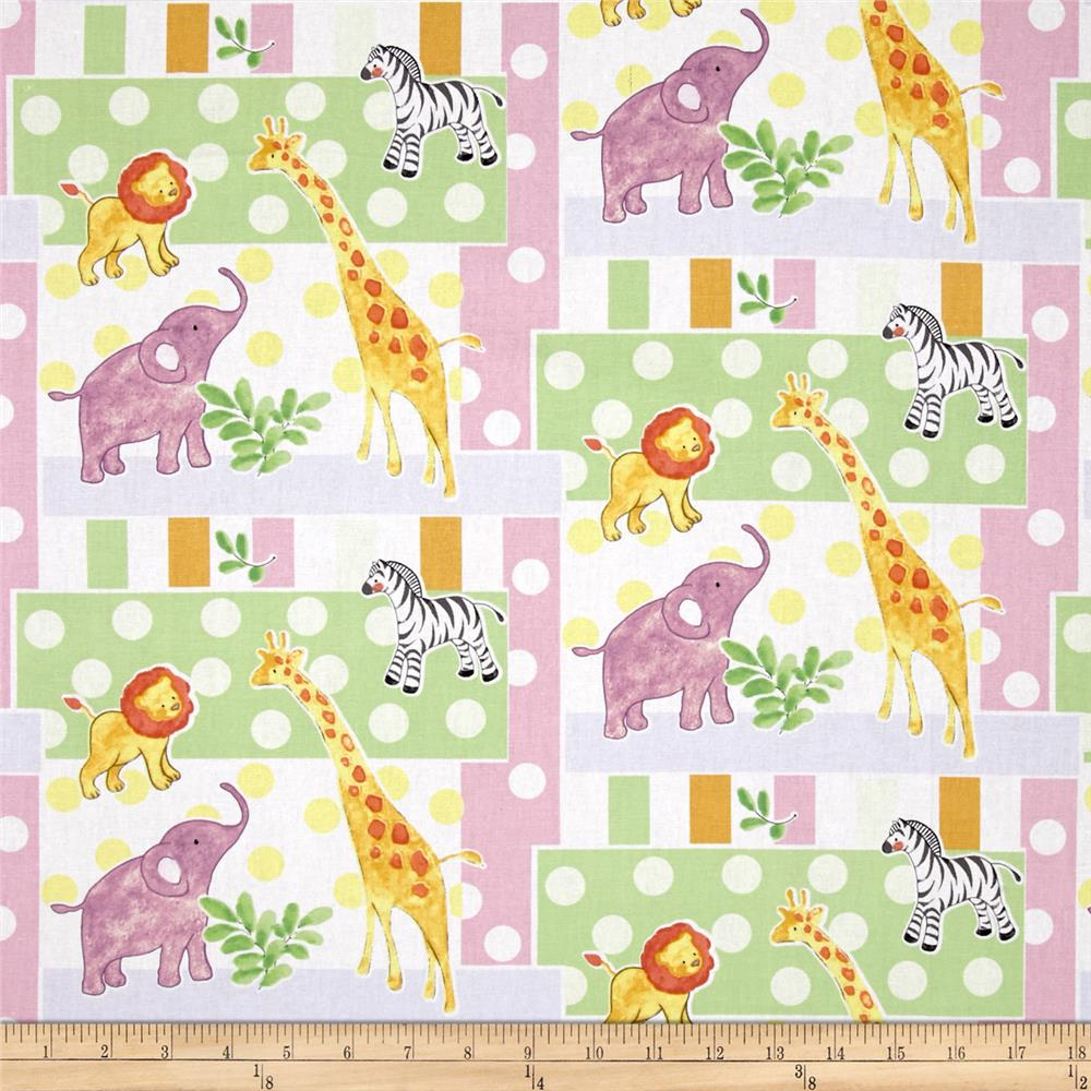 Safari Baby Patch Multi Fabric By The Yard