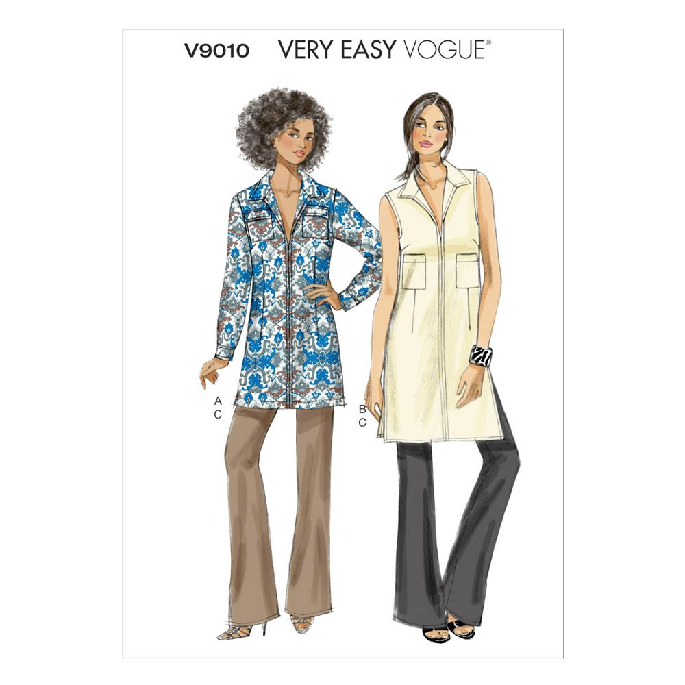 Vogue Misses' Tunic and Pants Pattern V9010 Size A50
