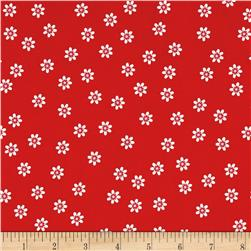 Riley Blake Sew Cherry 2 Daisy Red