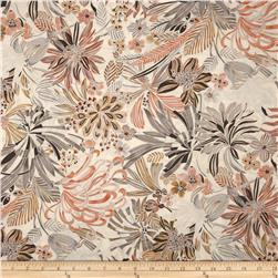 Kaya Metallic Packed Floral Papyrus/Silver Fabric