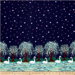 Michael Miller Swan Lake Border Midnight