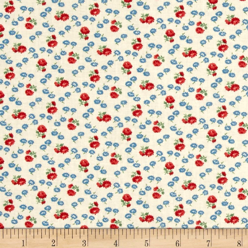 Summer Days Tiny Flowers Ivory