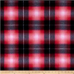 Fleece Shaded Plaid Print Geranium