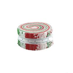 Moda Red Dot Green Dash Jelly Roll