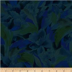 Jinny Beyer Burano Linear Floral Blue Green