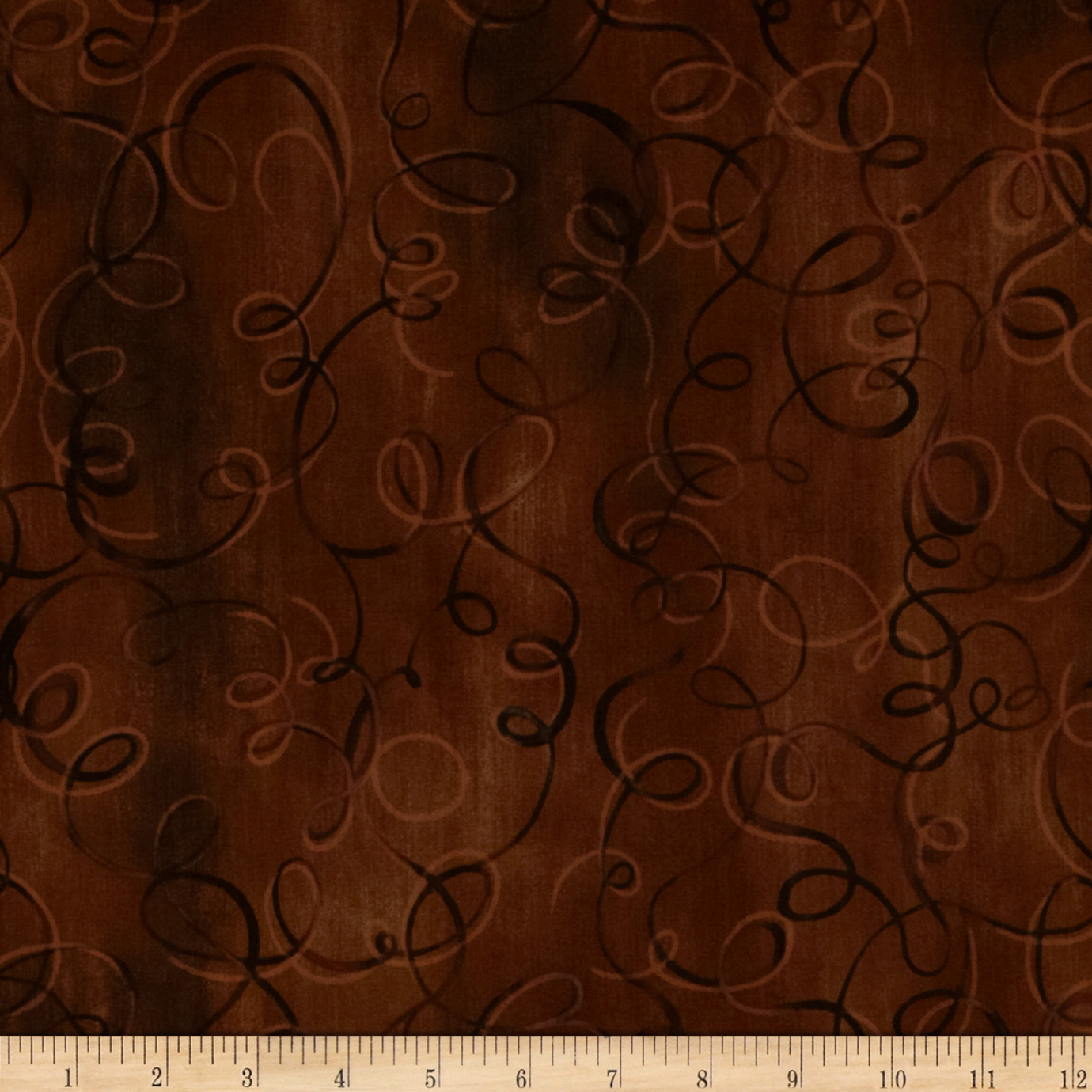 Studio Stash Tonal Swirl Cinnamon Fabric