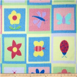 Fleece Bugs & Flowers Multi