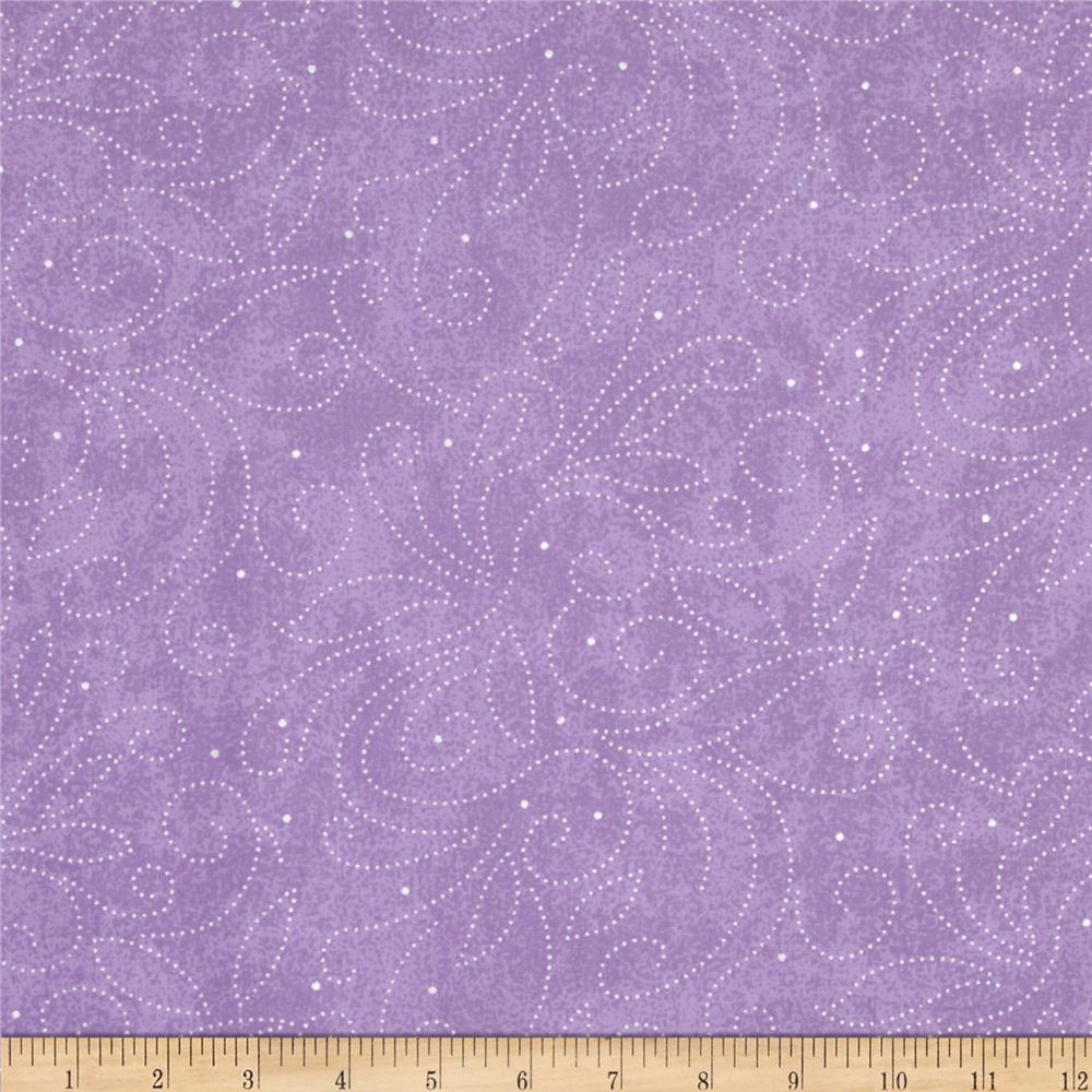 "110"" Wide Quilt Backing Scroll Lavender"