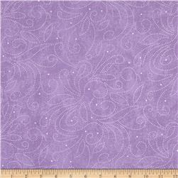 110'' Wide Quilt Backing Scroll Lavender Fabric