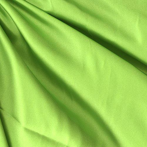 Sweetheart satin lime green discount designer fabric for Green fabric