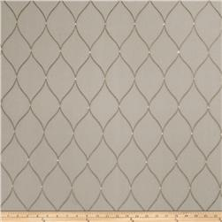 Fabricut Embroidered Marvette Sheers Taupe