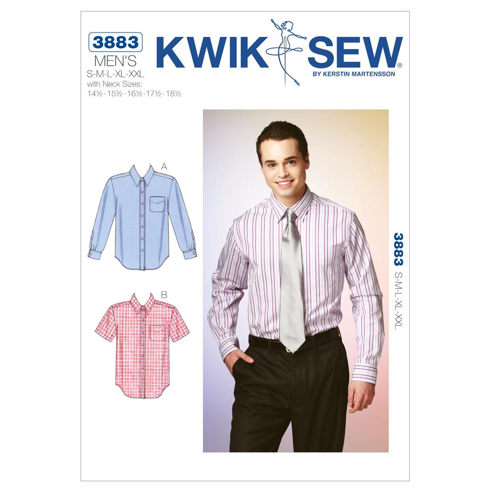 Kwik Sew Mens Men's Shirt (3883) Pattern