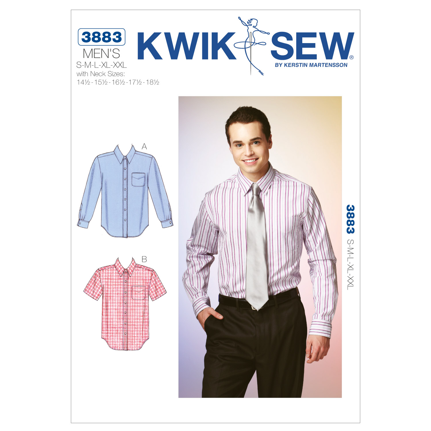 Image of Kwik Sew Mens Men's Shirt (3883) Pattern