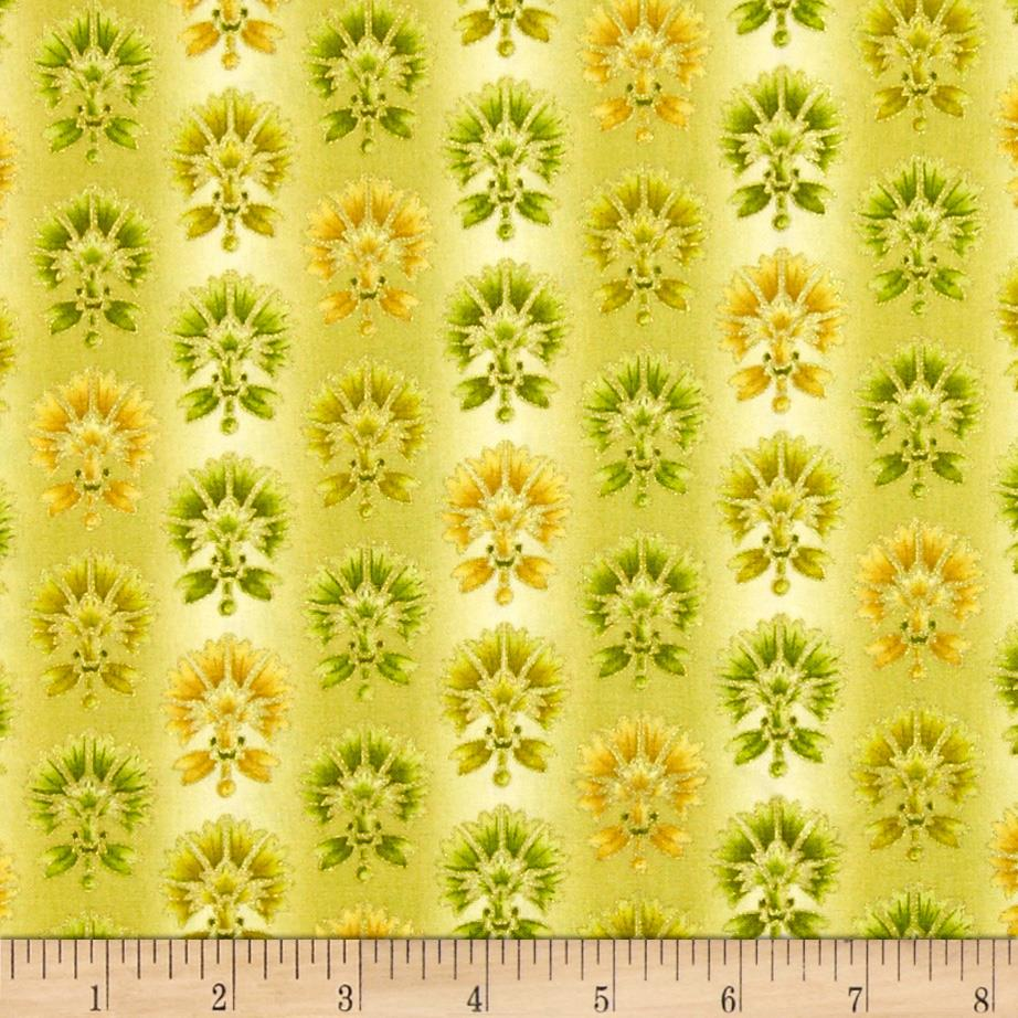 Joyful Blooms Metallic Ombre Blooms Green